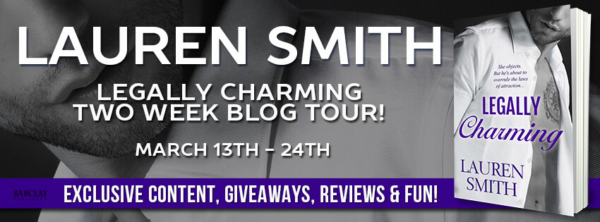 Win multiple prizes from Lauren Smith to celebrate Legally Charming's release!